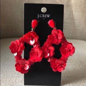 J. Crew sequin earrings